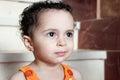 Arab baby girl looking at future Royalty Free Stock Photo