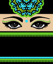 Arab beautiful woman in black dress s eyes Royalty Free Stock Photo
