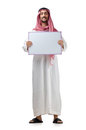 Arab with blank message Royalty Free Stock Image