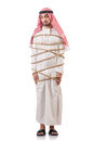 Arab businessman isolated white Royalty Free Stock Image