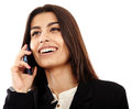 Arab businesswoman speaking on cellphone doing business an middle eastern young mobile phone Stock Photos