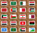Arab countries flags