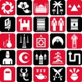 Arab countries icons Stock Image