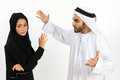 An arab couple with a lack of understanding Royalty Free Stock Images