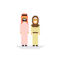 Arab Couple People Man and Woman Traditional Clothes Royalty Free Stock Photo
