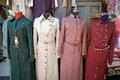 Arab fashion woman dresses at the market in the jerusalem old town jerusalem israel Royalty Free Stock Photo