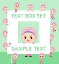 Arab girl text box