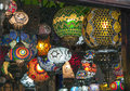 Arab lanterns detail of an shop Stock Images