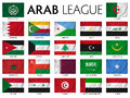 Arab league member countries Stock Photo