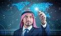The arab man in data mining concept