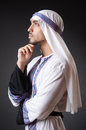 Arab man in deep thinking mode Stock Image