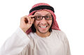 Arab man in specs isolated on white Royalty Free Stock Images