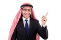 Arab man in specs isolated on white Royalty Free Stock Image