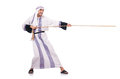 Arab man in tug of war concept Stock Photos