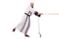 Arab man in tug of war concept Royalty Free Stock Image
