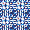 Arab muslim mosaic tile vintage seamless pattern Royalty Free Stock Photo