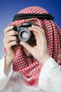 Arab photographer in studio Royalty Free Stock Photos
