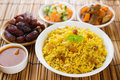 Arab rice ramadan food in middle east usually served with tandoor lamb middle eastern food Stock Photos