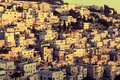 Arab village view of houses in silwan in jerusalem israel Stock Image