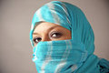 Arab woman in a burqa Stock Images