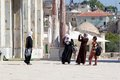Arab women with traditional dress are visiting and taking photographs the temple mount jerusalem israel Stock Photography