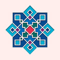 Arabesque, arabic tile, orient colorful stained-glass. Design for Eid Mubarak, Ramadan, decorative islamic vignette for