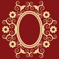 Arabesque floral frame Royalty Free Stock Photography