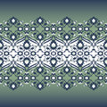 Arabesque lace damask seamless border floral decoration print fo Royalty Free Stock Photo