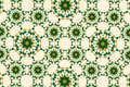 Arabesque in moroccan style with green and gold color