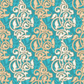 Arabesque ornamental asian muslim background seamless pattern Royalty Free Stock Photo