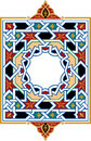 Arabesque pattern with detailed ornament Royalty Free Stock Photography