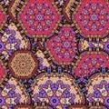 Arabesque seamless pattern. Background vintage flower. Texture r