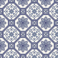 Arabesque seamless pattern in blue and grey in editable vector file Stock Photo