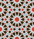 Arabesque seamless pattern in editable vector file Royalty Free Stock Photo