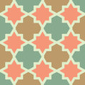 Arabesque seamless pattern tiled blocks background Stock Image