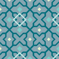 Arabesque seamless pattern tiled blocks background Royalty Free Stock Photo
