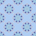 Arabesque seamless vector pattern blue Stock Images