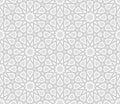 Arabesque star pattern light grey background vector illustration Stock Image