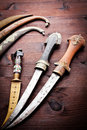 Arabian ancient daggers Royalty Free Stock Image