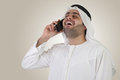 Arabian business man on a mobile conversation Stock Photos