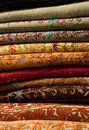 Arabian Fabrics Royalty Free Stock Photos