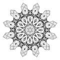 Arabian floral pattern motif black and white arabic middle eastern based on ornament Royalty Free Stock Photos