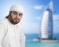 Arabian guy with traditional outfit Stock Image