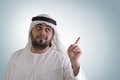 Arabian man in business presentation scene Stock Photo