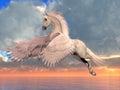 White Arabian Pegasus Horse