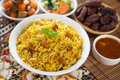 Arabian rice arab ramadan food in middle east usually served with tandoor lamb middle eastern food Royalty Free Stock Photo