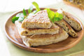Arabian stuffed bread mutabbaq arabic paratha Royalty Free Stock Image