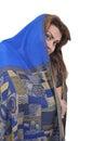 Arabian woman in hijab is smiling