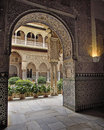 Arabic arch as seen in real alcazar seville spain Royalty Free Stock Photos