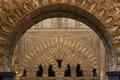 Arabic architecture cordoba detail of arches inside the mosque cathedral of córdoba spain also known as the mezquita it is a Royalty Free Stock Photos